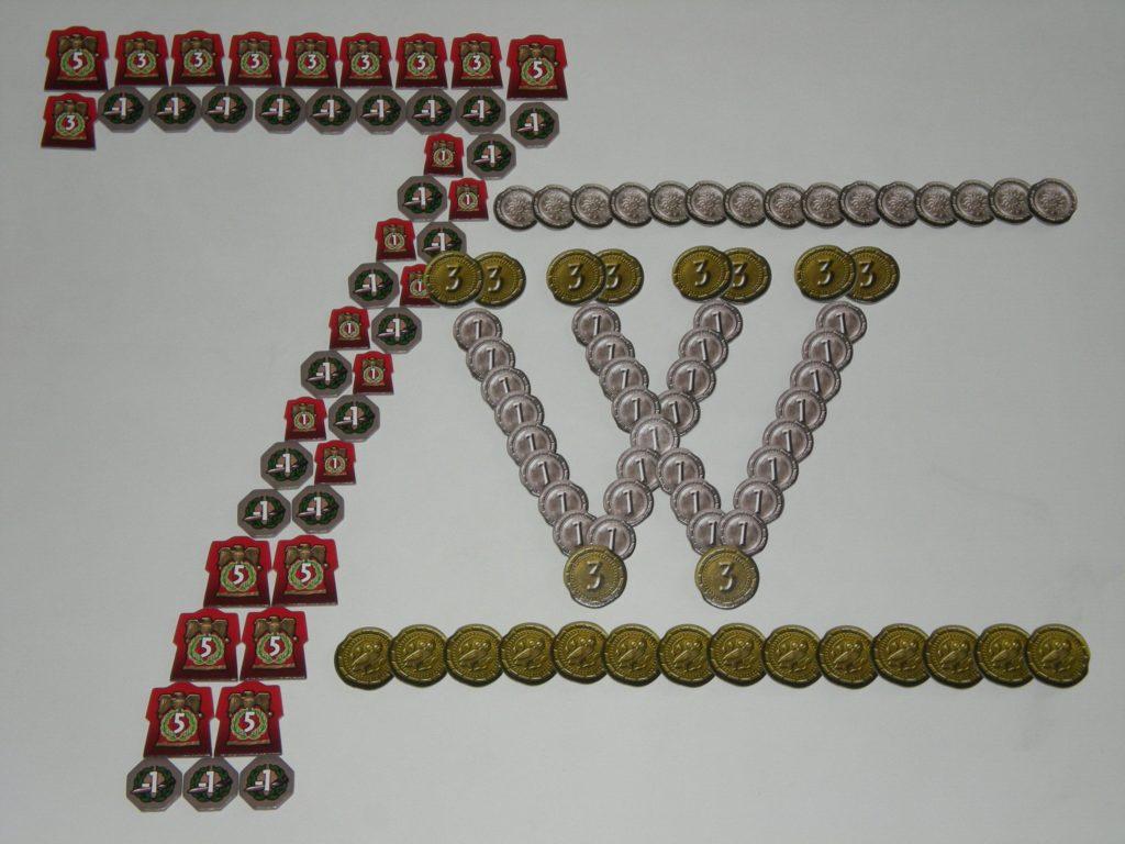 Игровые жетоны 7 чудес